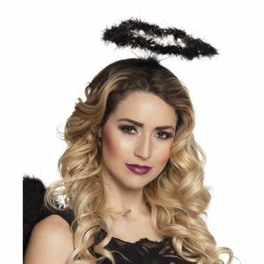 6x zwarte veren engelen hoofdbanden