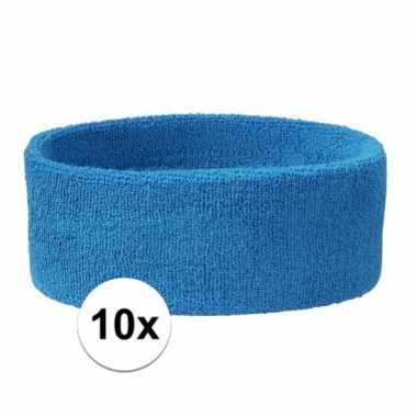 Aqua hoofdbandjes team blauw 10x