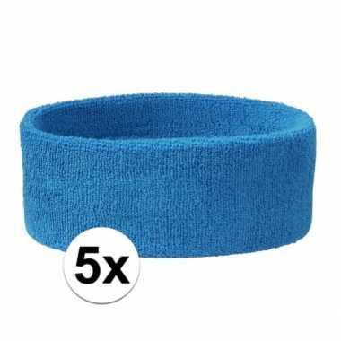 Aqua hoofdbandjes team blauw 5x