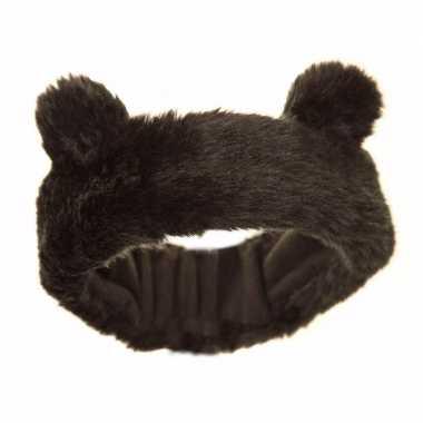 Dierenoortjes hoofdband bruine beer voor meisjes/kinderen