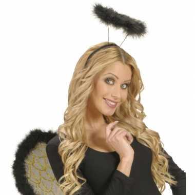 Engeltjes hoofdband zwart