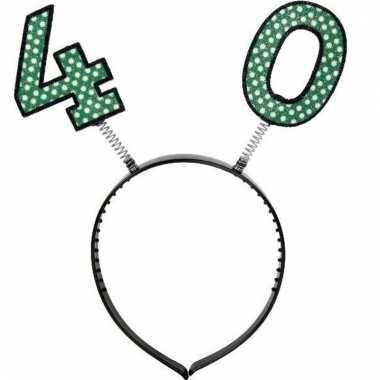 Feestartikel 40 jaar geworden hoofdband/diadeem