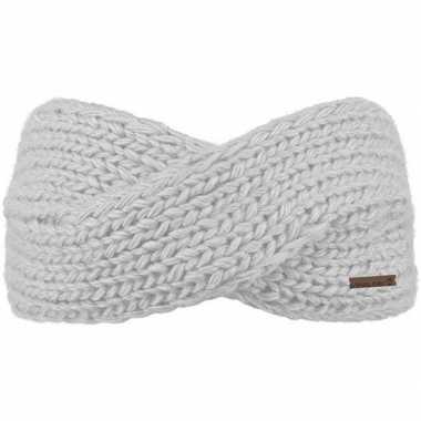 Gebreidde hoofdband grijs voor meisjes
