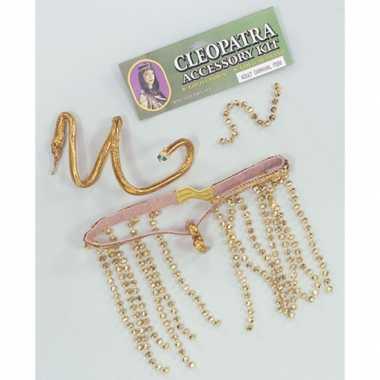 Gouden hoofdband en slangen armband