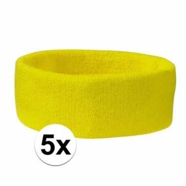 Hoofdbandjes team geel 5x