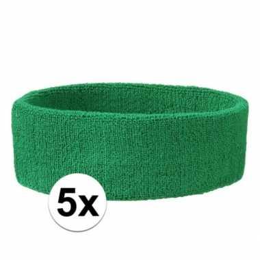 Hoofdbandjes team groen 5x