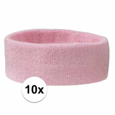 Hoofdbandjes team roze 10x