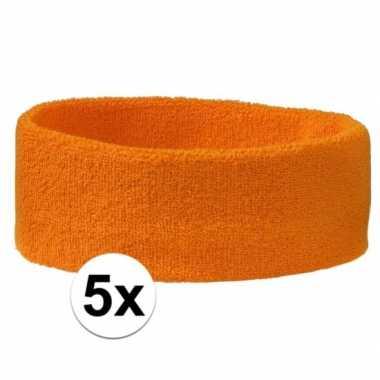 Oranje hoofdbandjes team oranje 5x