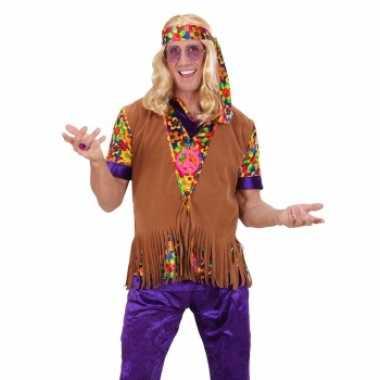 Sixties hippie vest met hoofdband voor heren