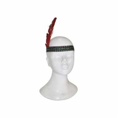 Voordelige indianen hoofdband met veer