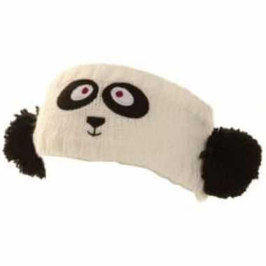 Wintersport hoofdband panda voor dames