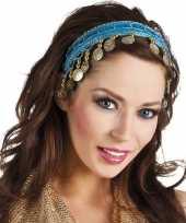 Carnaval esmeralda buikdanseres hoofdband turquoise blauw voor dames