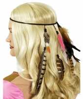 Indianen hoofdbandje met veren